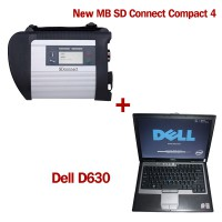 New SD Connect Compact 4 with V09/2017 Software Plus DELL D630 4GB Laptop(Second Hand)