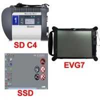 V12/2019 Xentry MB SD Connect Compact 4 DoIP Plus EVG7 DL46/HDD500GB/DDR2GB Diagnostic Controller Tablet
