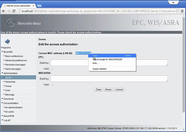 mb star c3 xentry keygen and epc activation step