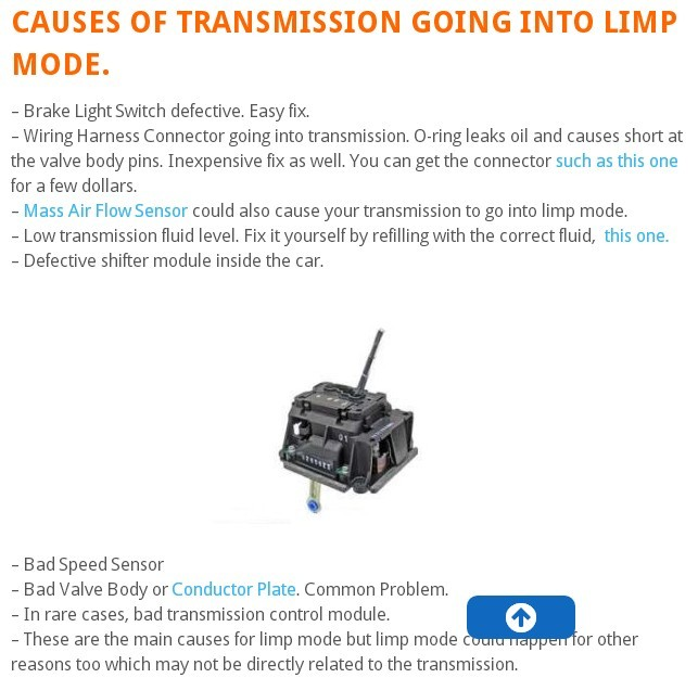 cause of transmission limp mode