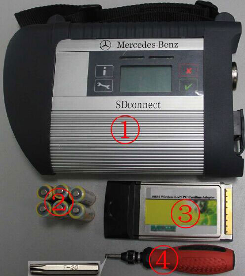 Install MB SD C4 Batteries
