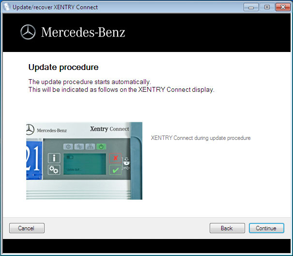 recover MB SD Connect C4 Xentry