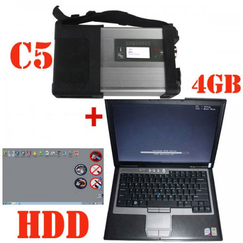 V3/ 2021 SD C5 Star Diagnosis Xentry Openshell XDOS Plus Second Hand DELL D630 Laptop with 4GB RAM