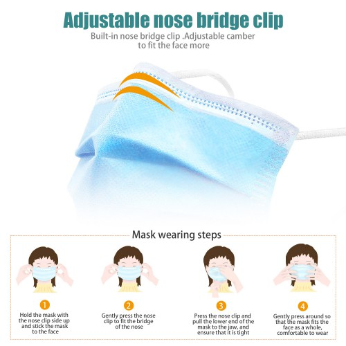 50 pcs Ear-loop Disposable Surgical Mask Medical Mask Protect Against Germs