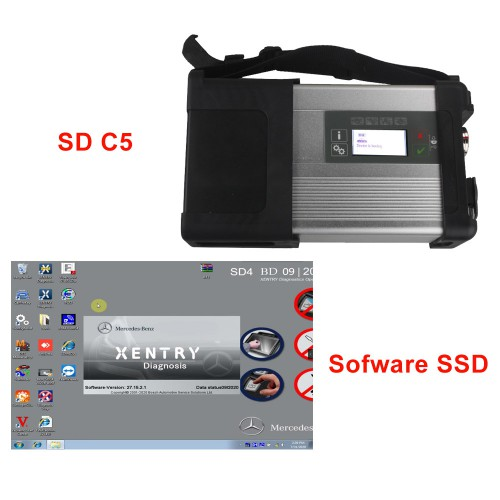 V12/ 2020 MB SD Connect Compact 5 SD C5 Star Diagnosis with XENTRY Software SSD for Cars and Trucks Support WIFI
