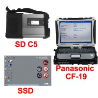 V03/2020 MB SD C5 Connect Compact 5 Star Diagnosis Plus Panasonic CF19 I5 4GB Laptop XENTRY SSD Software Pre-installed Ready to Use