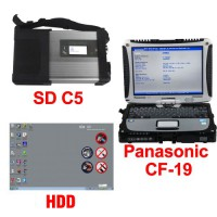 V03/2020 MB SD Connect C5 Star Diagnosis Plus Panasonic CF19 I5 4GB Laptop XENTRY HDD Software Pre-installed Ready to Use
