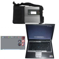 V03/2020 SD C5 Star Diagnosis Xentry Openshell XDOS Plus Second Hand DELL D630 Laptop with 4GB RAM