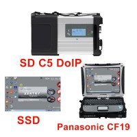 New MB SD C5 DOIP-C5 Star Diagnostic with 2020.09/2020.12 Software SSD Pre-installed on Second Hand Panasonic CF19 Laptop
