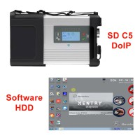 V3/ 2021 MB SD Connect C5 Star Diagnosis with XENTRY Software HDD Support DoIP for Cars and Trucks