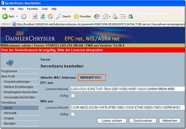 activate    SD Connect C4 diagnostic EPC and WIS